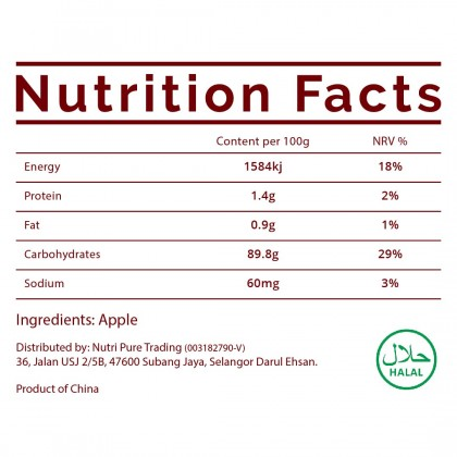 Nutri Pure Apple Powder (50g) Natural Flavouring & Colouring Nutrition Healthy Cook Bake Ingredient
