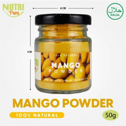 NutriPure Mango Powder (50g) Natural Flavouring & Colouring Nutritious Nutrition Healthy Cook Bake Ingredient