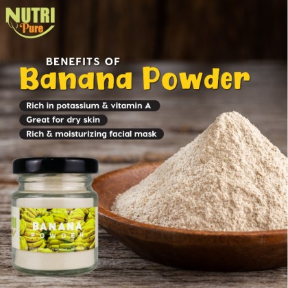 NutriPure Banana Powder (50g) Natural Flavouring & Colouring Nutritious Nutrition Healthy Cook Bake Ingredient