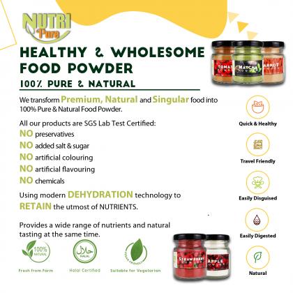 3-in-1 Starter Pack Fruit & Vegetable Powder (25g) Natural Colouring & Flavouring Cook Bake Ingredient